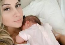 Mayra Cardi com a filha/Instagram