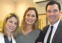 Priscilla Campelo, Michelle Bolsonaro e Regis Ramos - Reprodução/Instagram