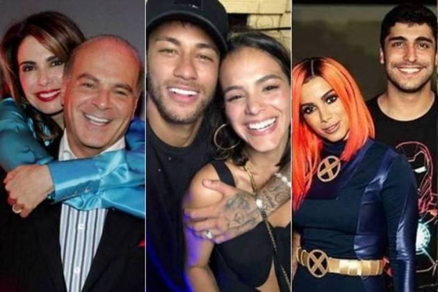 Luciana Gimenez e Marcelo - Neymar e Bruna - Anitta e Thiago/Instagram