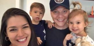 Thais Fersoza e Michel Teló com Melinda e Teodoro/Instagram