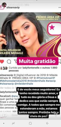 Mileide (Foto: Instagram)