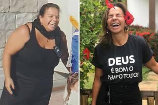 Antes e depois de Cynthia Sangalo/Reprodução