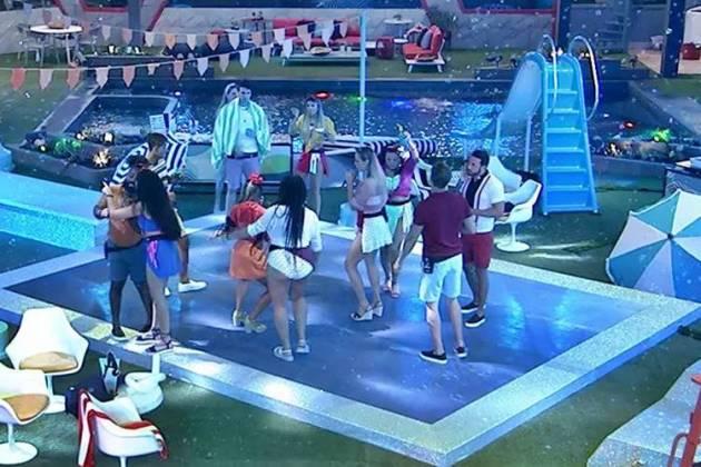 BBB19 - Festa Aqualoucos (Reprodução/TV Globo)