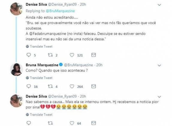 Comentário Bruna Marquezine - Reprodução/Twitter