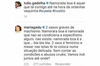 Comentário de Maria Gadu/Reprodução