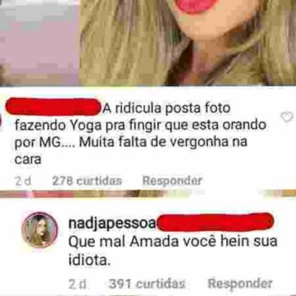 Comentário Nadja - Reprodução/Instagram