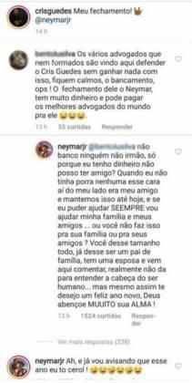 Comentário Neymar - Reprodução/Instagram