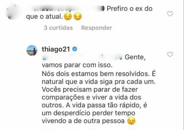 Comentário Thiago Magalhães - Reprodução/Instagram
