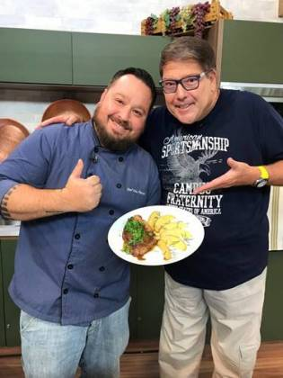 Faccioli com o Chef/Divulgação