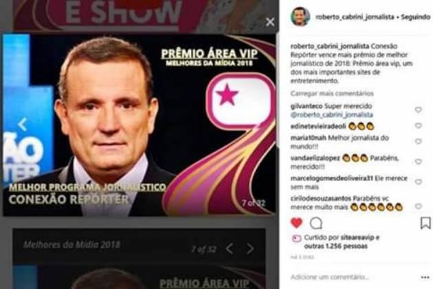 Publicação Roberto Cabrini - Reprodução/Instagram