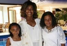 Glória Maria e as filhas/Reprodução