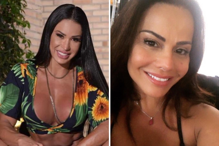 Gracyanne Barbosa e Viviane Araujo/Reprodução