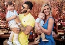 Gusttavo Lima, Andressa Suíta e os filhos/Reprodução