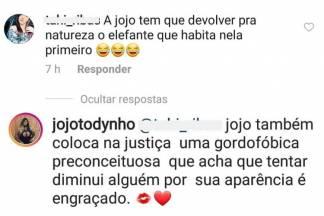 Jojo Todynho resposta/Reprodução