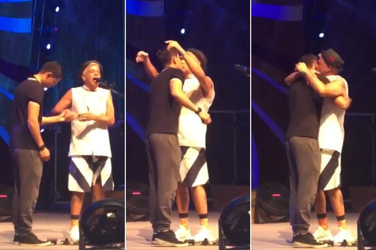 Lulu Santos é pedido em casamento pelo namorado durante show; assista