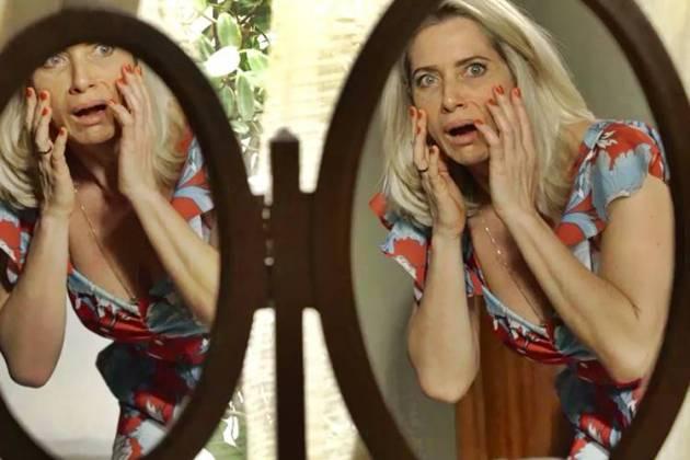 O Sétimo Guardião - Marilda fica assustada (Reprodução/TV Globo)