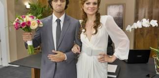 O Tempo Não Para - Miss Celine e Elmo se casam (Globo/Cesar Alves)