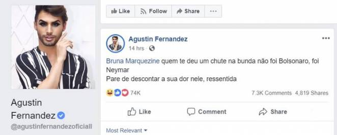 Post - Augustin Fernandez/Facebook