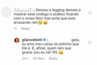 Resposta de Giovanna Lancellotti/Instagram