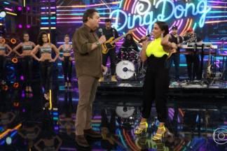 Anitta e Faustão/Reprodução Globoplay