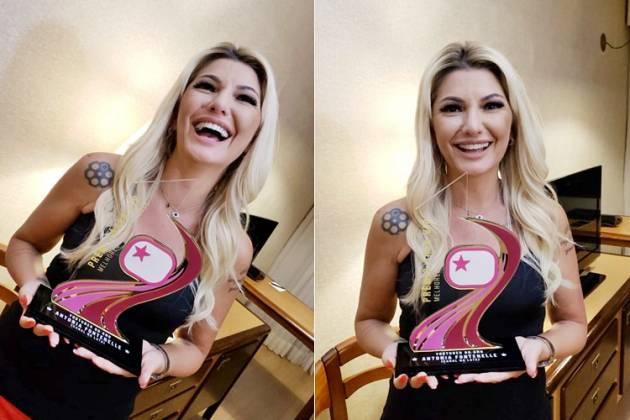 Antonia Fontenelle recebe Troféu Prêmio Área VIP - Fotos: Rosangela Mello/Wandreza Fernandes/Área VIP