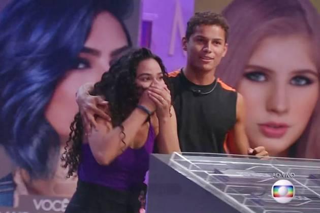 BBB19 - Danrley e Elana lideres (Reprodução/TV Globo)