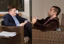 Cabrini entrevista Denis Furtado (Divulgação/SBT)