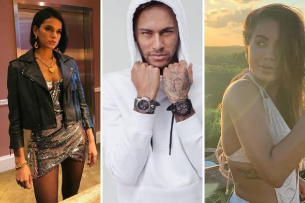 Bruna, Neymar e Anitta/Reprodução Instagram