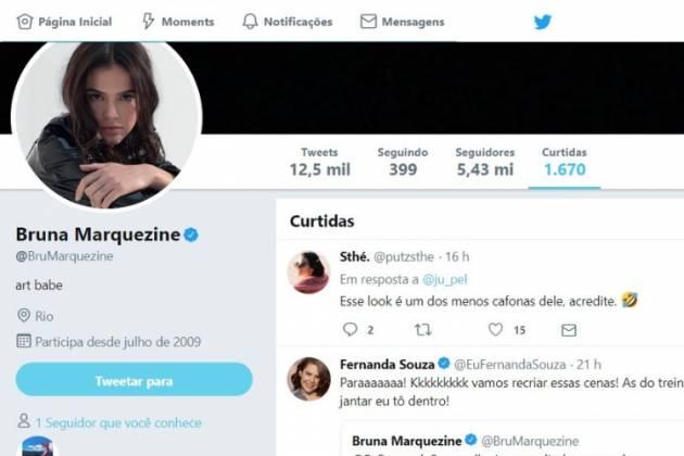 Comentário de Bruna Marquezine/Reprodução Twitter