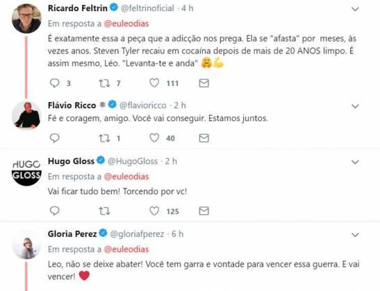 Comentários no post de Leo Dias/Twitter