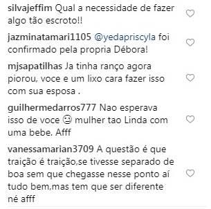 Ator recebeu criticas (Foto: Instagram)