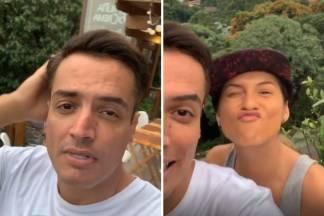 Leo Dias e Lívia Andrade na mansão da loira/Reprodução Instagram