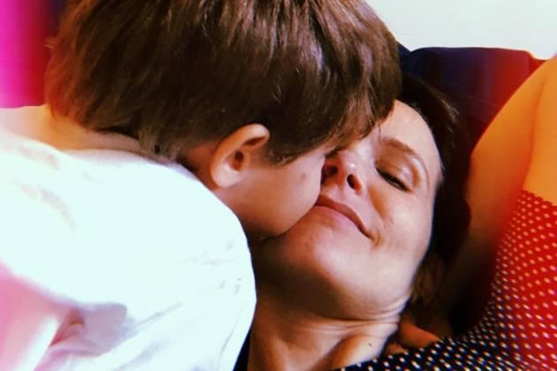 Fernanda Rodrigues e filho/Reprodução Instagram