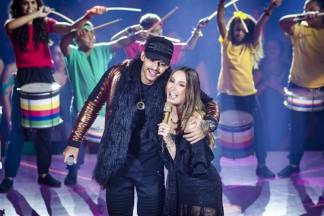 Hungria e Claudia Leitte (Globo/Isabella Pinheiro)
