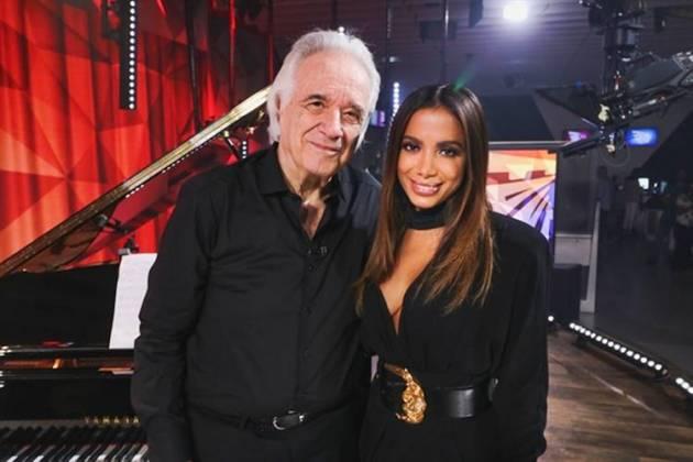 João Carlos Martins e Anitta (Globo/ Felipe Martini)