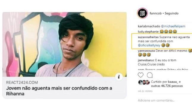 Comentário de Suzanna Freitas (Foto: Instagram)