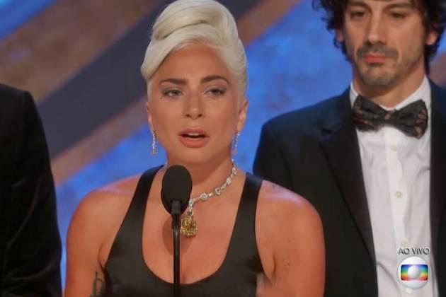Lady Gaga no Oscar (Reprodução/TV Globo)