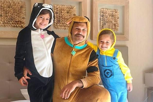 Marcos com os filhos/Instagram