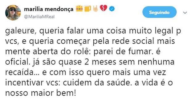 Marília Mendonça (Foto: Twitter)