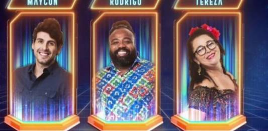 Maycon, Rodrigo e Tereza - Reprodução/TV Globo