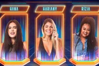 Hana, Hariany e Rízia - Reprodução/TV Globo