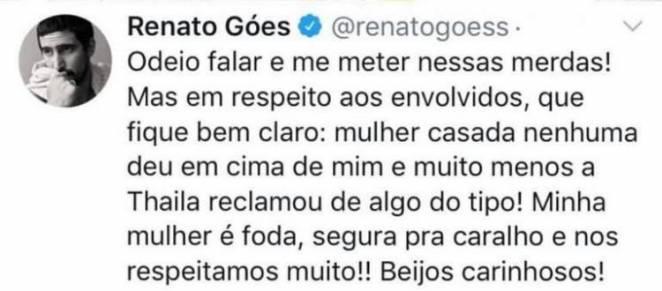 Publicação Renato Góes - Reprodução/Twitter
