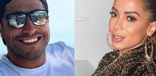 Thiago e Anitta (Foto:Montagem Área Vip)