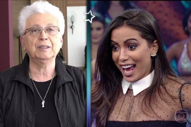 Aguinaldo Silva e Anitta - Reprodução/TV Globo