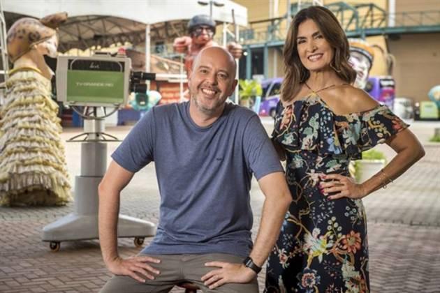 Alex Escobar e Fátima Bernardes ( Globo/João Cotta)