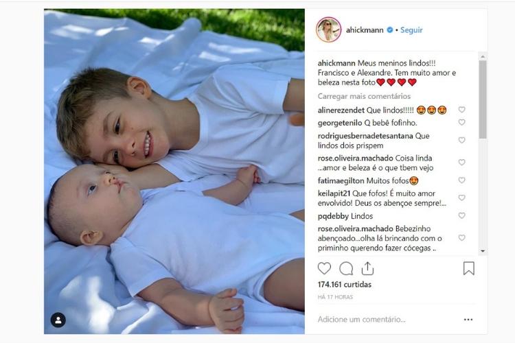 Comentário de Ana Hickmann/Reprodução Instagram
