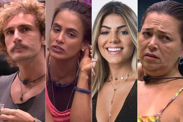 BBB19 - Alan, Carolina, Hariany e Tereza (Reprodução/TV Globo)