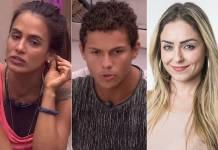 BBB19 - Carolina - Danrley - Paula (Reprodução/TV Globo)
