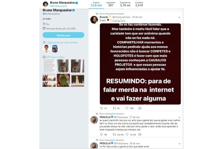 Bruna Marquezine Twitter/Reprodução Twitter