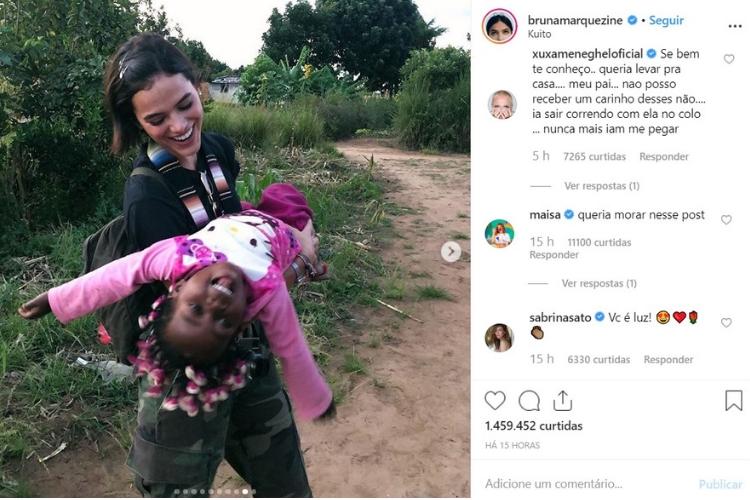Comentários na foto de Marquezine/Reprodução Instagram